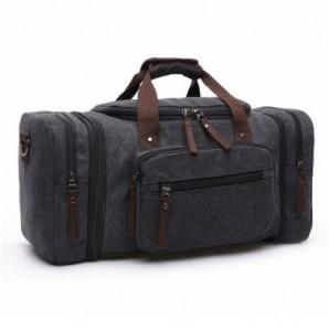 Kenox Oversized Canvas Travel Tote Luggage Weekend Duffel Bag