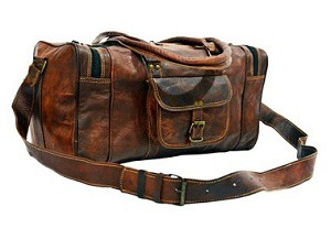Annucreations 22 Leather Duffel Mens Brown Travel Luggage Weekend Holdall Duffle Gym Bag Best Bags