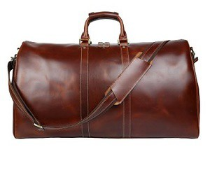 Baigio Mens Brown Leather Gym Sports Weekend Travel Duffel Bag Boarding Best Bags