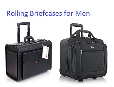 top 15 best rolling briefcases for men 2018 | travel gear zone