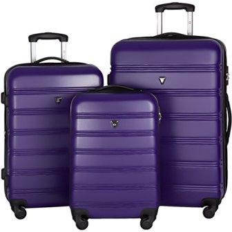 Merax Travelhouse Luggage Set 3 Piece Expandable Lightweight Spinner Suitcase