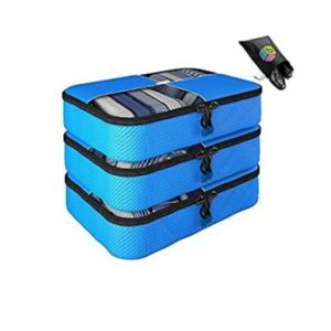 Packing Cubes – 4 pc Value Set Luggage Organizer + Bonus Shoe Bag Included – Lifetime Guarantee – By Bingonia Travel Accessories