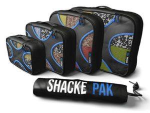 Shacke Pak – 4 Set Packing Cubes – Travel Organizers with Laundry Bag