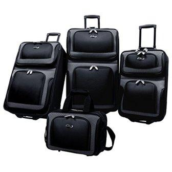 US Traveler New Yorker Lightweight Expandable Rolling Luggage 4-Piece Suitcases Sets