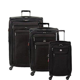 3 Piece Set Heys America Lightweight Pro Rolling Luggage Black