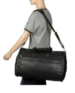 U.S. Traveler Koskin Leather Garment Duffel Bag