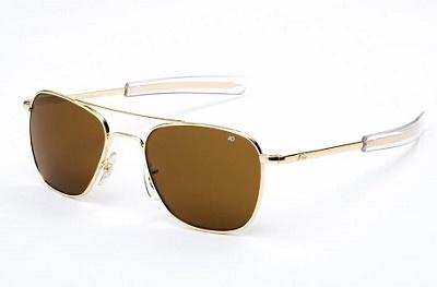 adcef7f7bf American Optical Eyewear Original Pilot Sunglasses 55mm Brown Polarized  Optical Glass Lenses