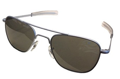 71e78bb998c American Optical Original Pilot Eyewear 55mm Matte Chrome Frame with Grey  Lenses. American Optical Sunglasses