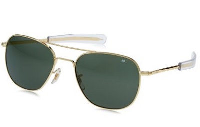 df1c19b13d6 American Optical Original Pilot Eyewear Gold 57mm Frame with Green Glass  Lens and Bayonet Temples. American Optical Sunglasses