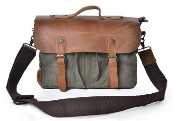 e16cf4e8322c The Best Canvas Briefcases for Men In 2019 | Travel Gear Zone