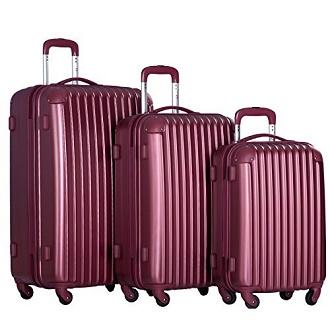d9d3b0671 Merax Travelhouse 3 Piece PC+ABS Spinner Luggage Set with TSA Lock