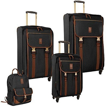 2344ed06d73 Featuring three 29, 25, and 20 inches spinner suitcases, and a boarding bag,  the Timberland Reddington 4-piece luggage set lets you travel in style.