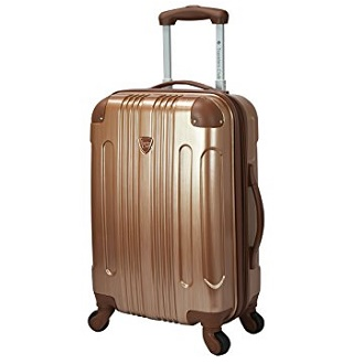 133a42a99b Travelers Club Luggage Polaris 20″ Met Hardside Exp Carry-On Spin
