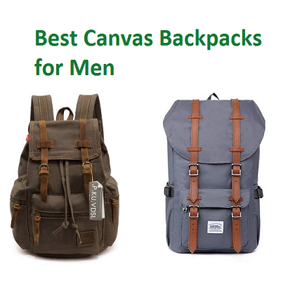 2d341ba3d Canvas backpacks for men are the perfect depiction of adventure, freedom  and travel! While duffel bags may be a bit too big and bulky, the backpacks  provide ...