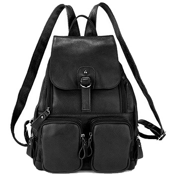 a3f45e7e33f6 Coolcy Casual Women Real Genuine Leather Backpack