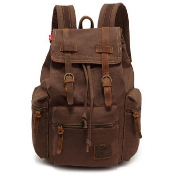 8b807391a5 EcoCity Vintage Canvas Backpack Rucksack Casual Daypacks Bookbags