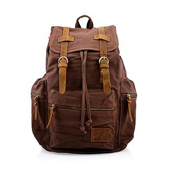 Bag Real Leather Backpack Men Laptop Travel S Vintage Hiking Camping Large Carry