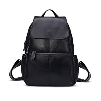 92b66cae0cda Leyan s Genuine Leather Backpack is a multipurpose bag that comfortably  fits for school