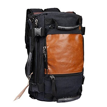 The OXA Vintage Canvas Travel Backpack is an extremely versatile and  stylish backpack! With its multiple handles all over the bag 8edf007d3cec2