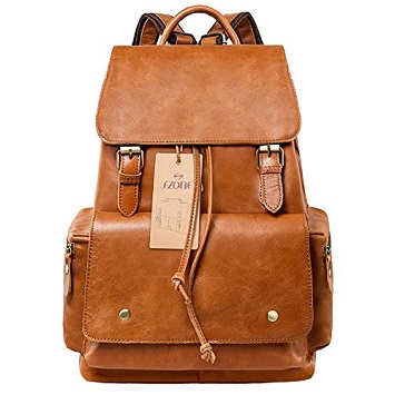 ee0015ea5a45 S-ZONE Women s Daily Genuine Leather Casual Backpack