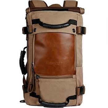 9716dadc7d10 The prime combination of pockets and compartments along with the bags  overall rugged look makes the ibagbar Canvas Backpack Travel Bag Hiking Bag  Camping ...