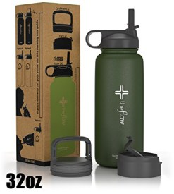 .the flow Stainless Steel Water Bottle Double Walled-Vacuum Insulated