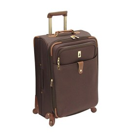 8.London Fog Luggage Chelsea Lites 25 Inch 360 Expandable Upright