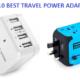 1.TOP 10 BEST TRAVEL POWER ADAPTERS