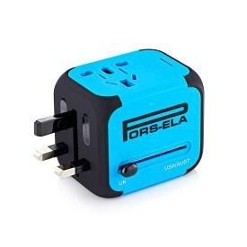 2.PORS-ELA International Travel Power Adapter