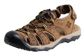 5.iLoveSIA Men's Leather Walking and Hiking Sandals