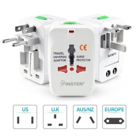 8.Insten Universal World Wide Travel Charger Adapter Plug