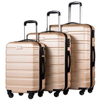 Coolife Luggage 3 Piece Set Suitcase Spinner Hardshell