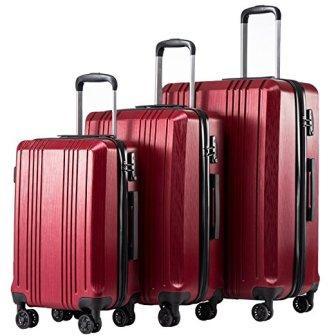 Coolife Luggage Expandable Suitcase 3 Piece Set
