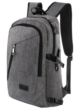 1e54269a78 This bag has a gilded feature Mancro Business Water Resistant Polyester Laptop  Backpack