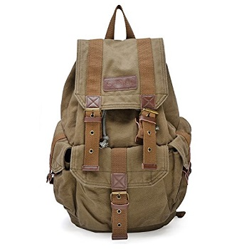 3d039643af Gootium 21101 Specially High Density Thick Canvas Backpack Rucksack