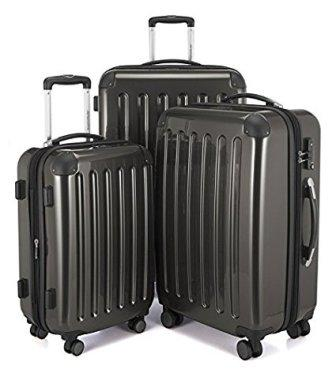 dbcff712af3 This 3- HAUPTSTADTKOFFER Luggages Sets Glossy Suitcase Sets Hardside  Spinner Trolley Expandable