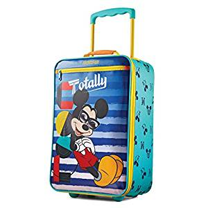 American Tourister Kids' Softside 18″ Upright, Disney Mickey Mouse