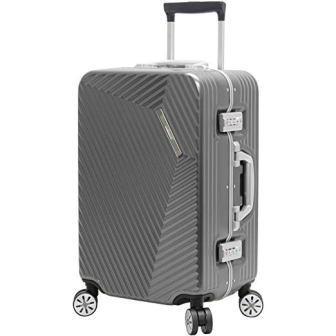 "Andiamo Luggage Aluminum Frame 20"" Carry On Zipperless Suitcase"