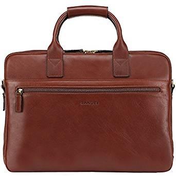 Banuce Full Grain Leather Briefcase