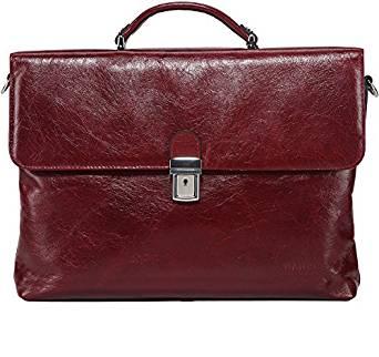 Banuce Genuine Leather Briefcase
