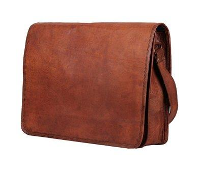 The products are Rustic Town 15 inch Vintage Crossbody Genuine Leather  Laptop Messenger Bag 53501bef83f76