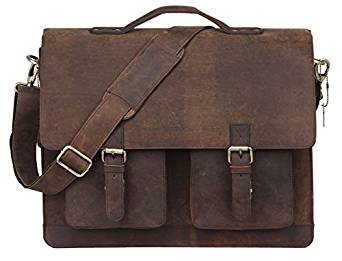 This Leaderachi Vintage Hunter Leather Uni Messenger Bag