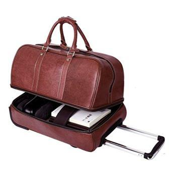 18848c0784c8 ... Leathario Genuine Leather Overnight Travel Duffel Bag