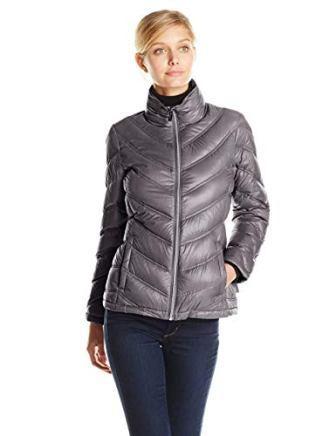 Calvin Klein Women's Lightweight Chevron Packable Jacket