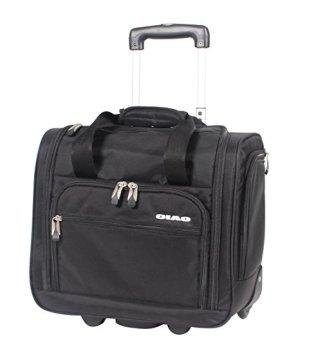 Ciao Luggage Carry On Suitcase Wheeled Airplane Weekender Under the Seat Bag