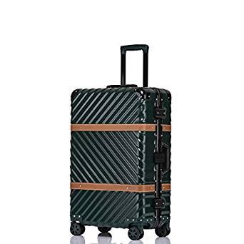 Clothink Aluminum Frame Luggage, Hardside Fashion Suitcase