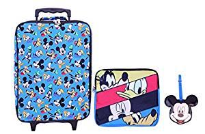 Disney Boys' Mickey 3 Pc Luggage Set