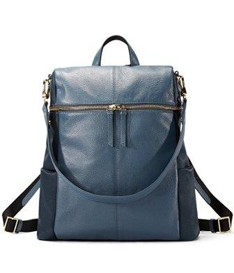 EMINI HOUSE Fashion Women Backpack Genuine Leather School Bag