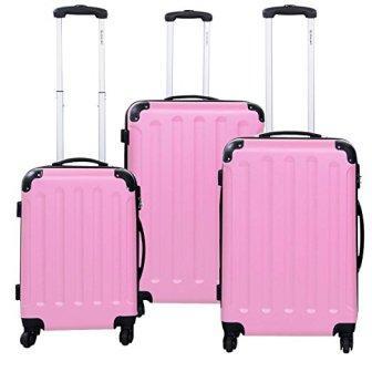 Goplus 3 Pcs Luggage Set Hardside Travel Rolling Suitcase ABS Globalway