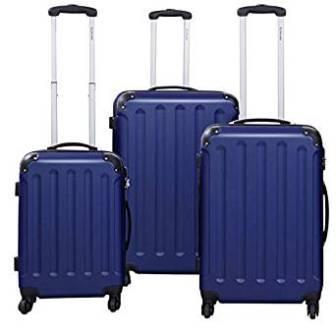 Goplus 3 Pcs Luggage Set Hardside Travel